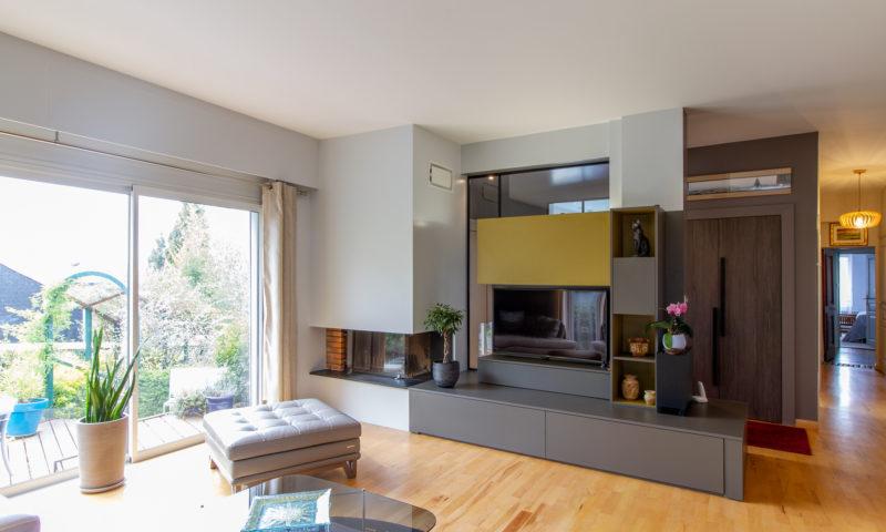 Entrée aménagement sur mesure – Maison Bois-Guillaume